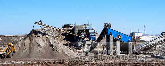 Mobile Crushing Plant for Processing Limestone